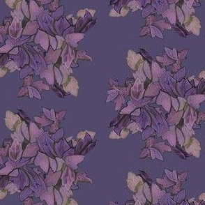 leaves-purple and green