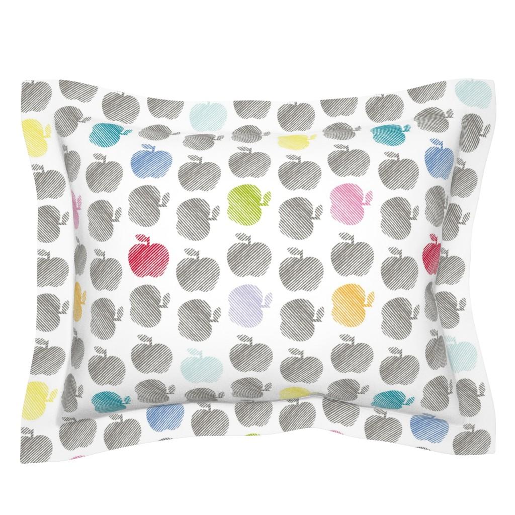 Sebright Pillow Sham featuring ApplePop by cucawik