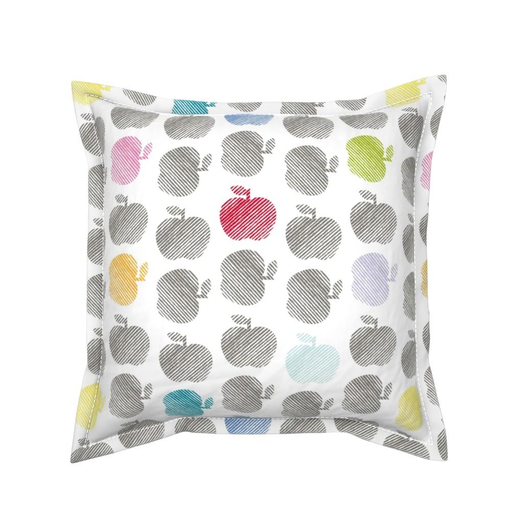 Serama Throw Pillow featuring ApplePop by cucawik