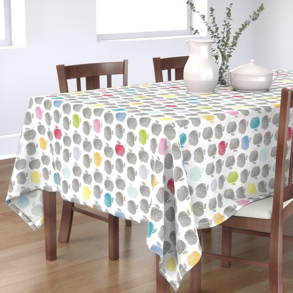 Bantam Rectangular Tablecloth featuring ApplePop by cucawik