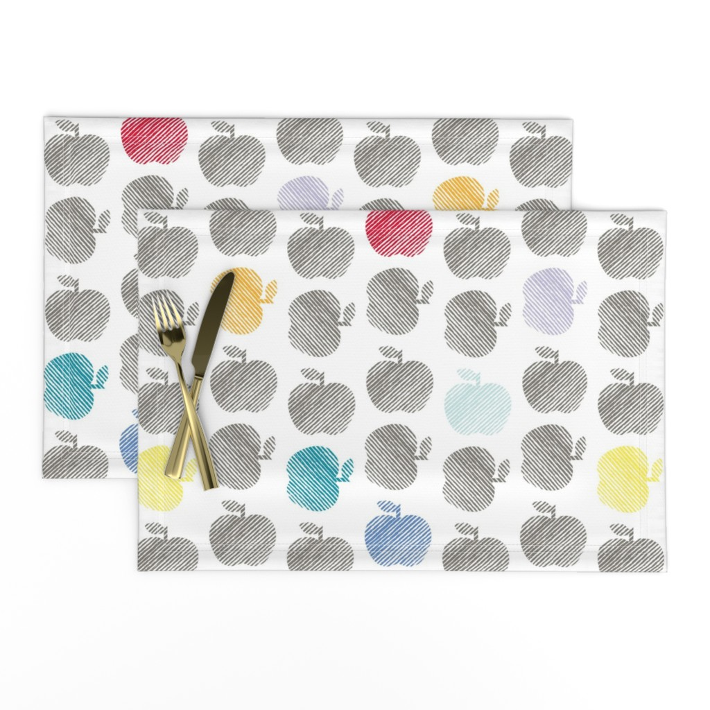 Lamona Cloth Placemats featuring ApplePop by cucawik