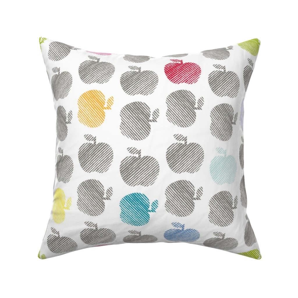 Catalan Throw Pillow featuring ApplePop by cucawik