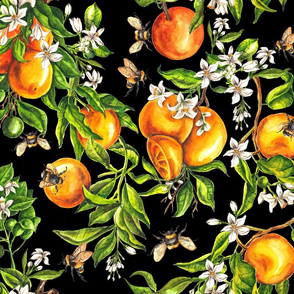 Oranges on Black - Big Scale