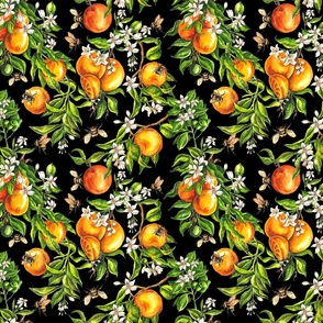 Oranges on Black - Small Scale
