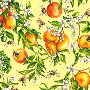 Oranges on Yellow - Big Scale
