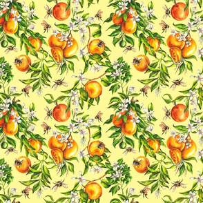 Oranges on Yellow - Small Scale