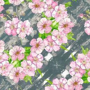 Pretty pastel floral - en pointe - medium
