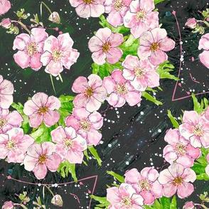 Deep, dark & diagonally floral - medium