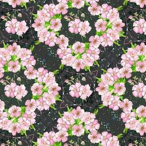 Deep, dark & diagonally floral - small