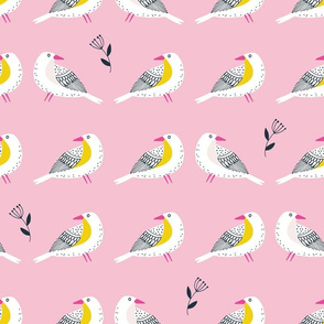 Lined birds light pink