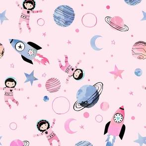 Astronaut princess pink