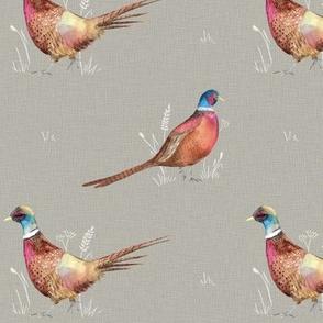Watercolour Pheasants MED