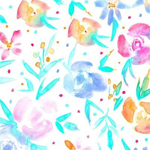 Spring in wonderland ★ watercolor tender florals in pastel shades for modern home decor, bedding, nursery