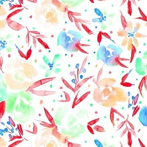 spring in wonderland - watercolor florals p282