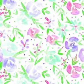 spring in wonderland - watercolor rose florals p282
