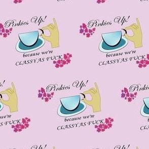 Pinkies Up- Colored Purple bg-ed