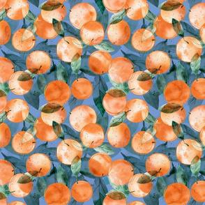 Sweet watercolor oranges