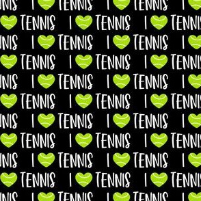 (small scale) I love tennis - tennis ball - black  - LAD20