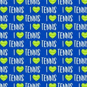 (small scale) I love tennis - tennis ball - cobalt - LAD20