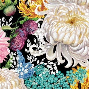 White Mums And Mixed Floral