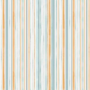 Summer sunset / Watercolor stripes medium scale