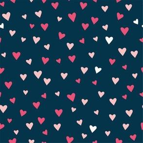 Tiny Hearts - Navy