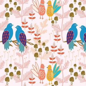 Mushrooms + Bird Couples