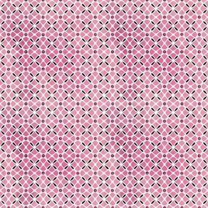 White Lattice on Pink