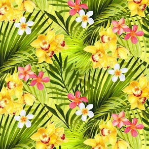 Tropical Flowers and Palms