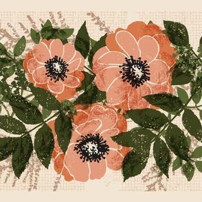 "Vintage Roses Tea Towel (fits 27"" x 18"")"