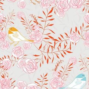 Pretty Birds - Orange