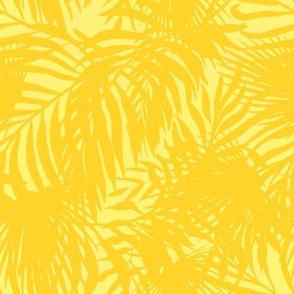Yellow Silhouette Palms