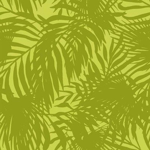 Green Silhouette Palms