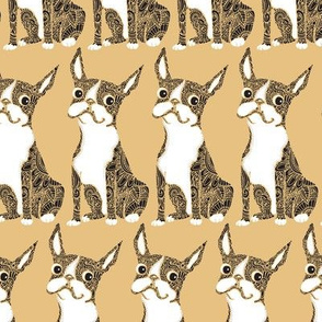 Boston Terrier Yellow