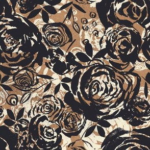 BlackCreamBrownRoses