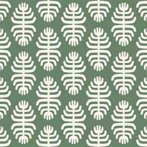 Tribal Flowers   Green