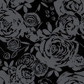 Moody Gray Roses
