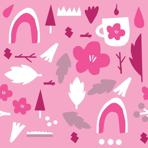 Pink Forest Pattern