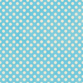 Playful Polka dot blue and white TerriConradDesigns