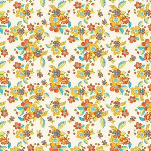 Illustrated Ditsy Playful Flowers TerriConradDesigns