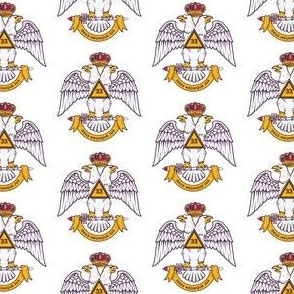 "Large 2"" Scottish Rite 33rd NMJ Freemasons Color"