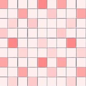 Powder Room Pink Mosaic Tile