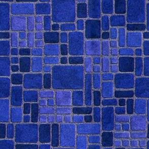 Grandma's Blue Kitchen Floor
