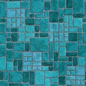 Grandma's Turquoise Kitchen Floor