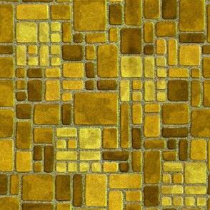 Grandma's Yellow Kitchen Floor