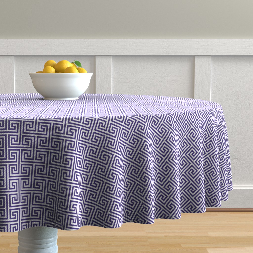 Malay Round Tablecloth featuring Paros-VW by cucawik
