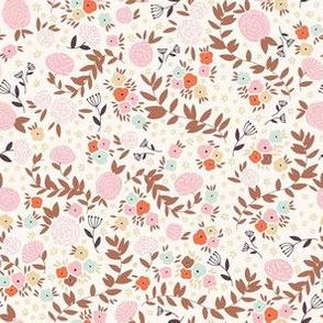 Bird garden_pastels_ small flowers