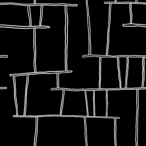 Black and white abstract construction