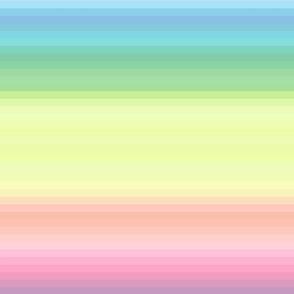 "pastel wild and crazy rainbow .5"" half inch stripes horizontal"