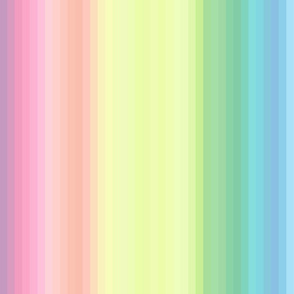 "pastel wild and crazy rainbow .5"" half inch stripes vertical"